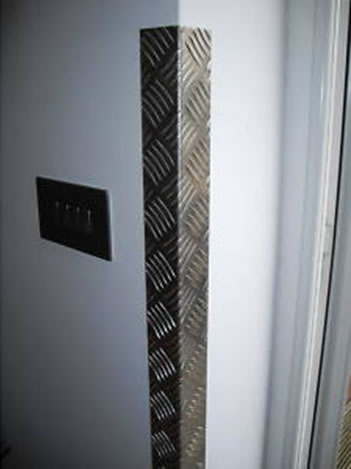 Chequer Plate Applications Wall Corner Guards Elevator